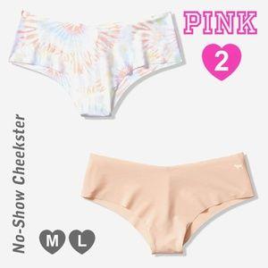 2 VS PINK Cheekster Panty